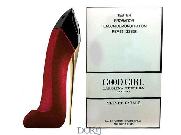 تستر عطر ادکلن گودگرل ولوت فتال کارولینا هررا   گود گرل قرمز - Good Girl Velvet Fatale Tester